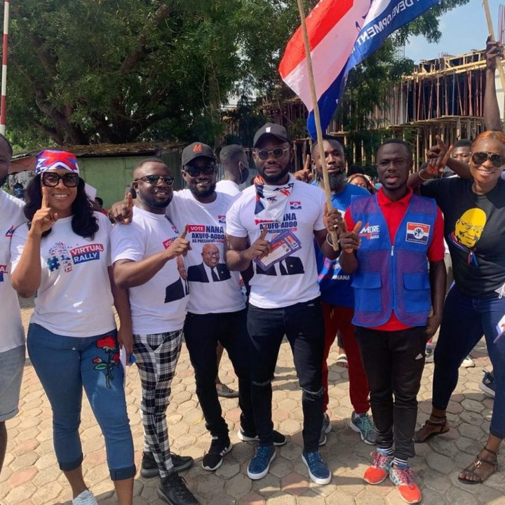 f894fcea6094acba5b33f9ca40b427ba?quality=uhq&resize=720 - John Dumelo And Hon Lydia Alhassan Celebrities Campaign Team, Who Is More Influential? (Photos)