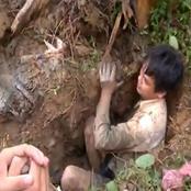 (قصة) حفر لزراعة شجرة أسفل منزله فاصطدم الفأس بحجر كبير أثناء الحفر.. وعندما أزاحه رقص فرحاً