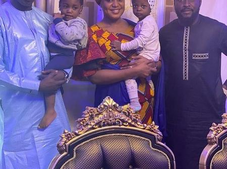 Ali Nuhu Pay A Courtesy Visit To Former Actress, Fati Ladan And Her Husband At Their Residence