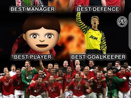 True? See The Rated Best Player, Best Manager, Best Goalkeeper, And Best Team Of Manchester United.