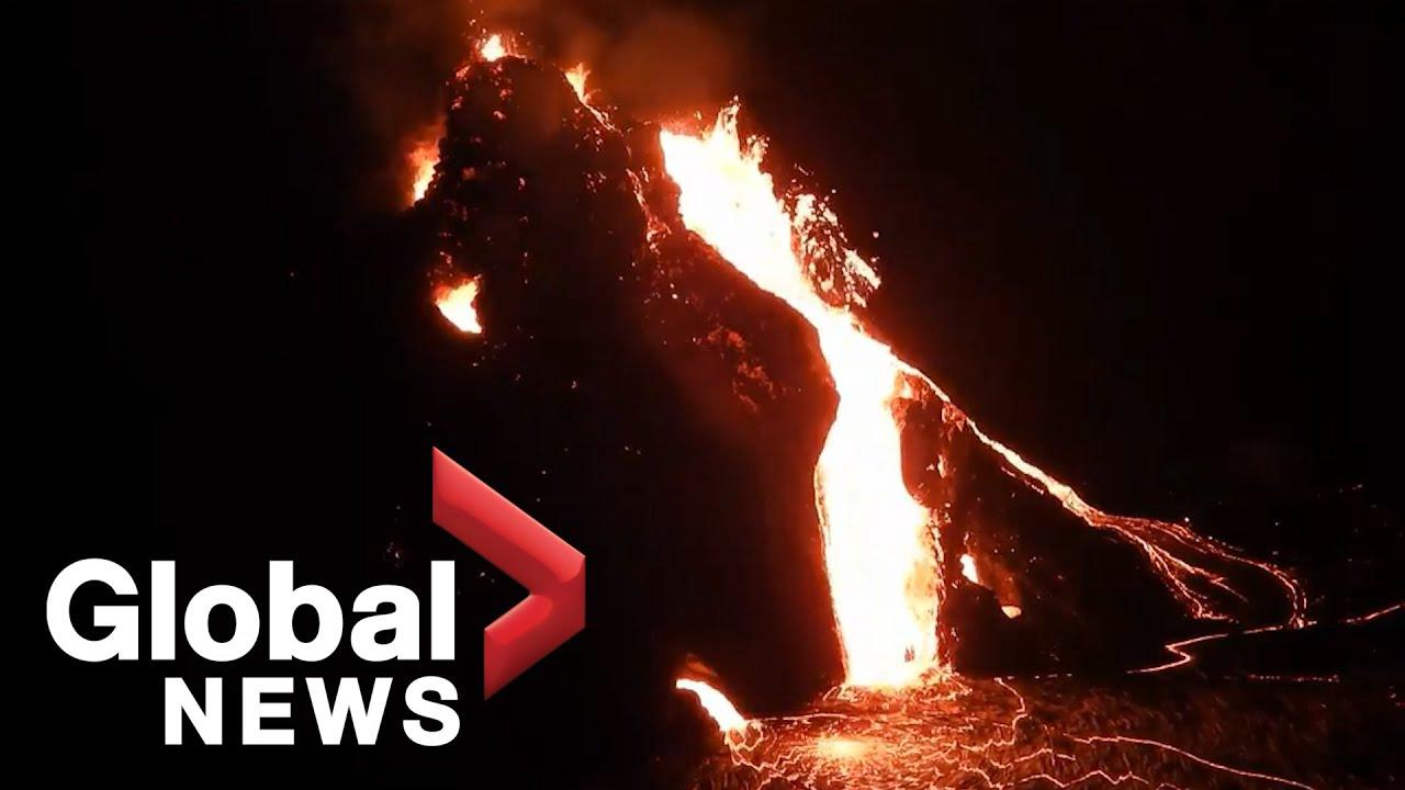 "Kilauea volcano spews ""lava lake"" on Hawaii's Big Island"