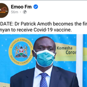Dr. Patrick Omoth Emerge the First Kenyan to Receive Covid 19 Vaccination.