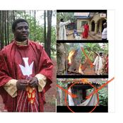 Fr. Ebube Muonso Destroys Shrine And Charms (Video)