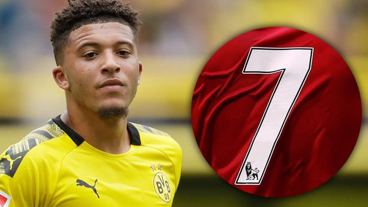 The shirt numbers available to Jadon Sancho if he completes Manchester United transfer