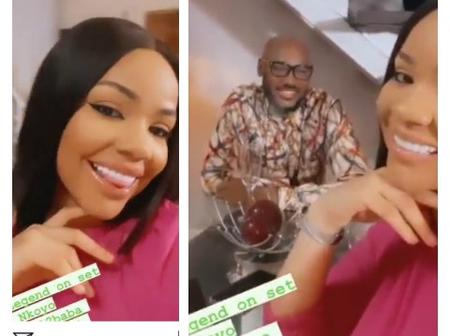 Moment Nengi And 2face Were Spotted Together On Set In A Video That Surfaced On Instagram