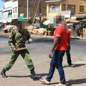 Panic In Kisii After A Man Attacks and Stabs A Police Officer With A Machete