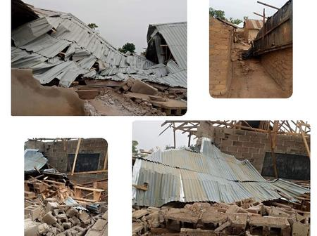 30 Houses, Churches And Mosques Collapsed During Rainfall In Nasarawa State Yesterday
