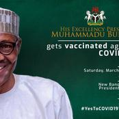 Check Out What Nigerians Noticed On The Banner Of Buhari's Proposed Covid-19 Vaccination
