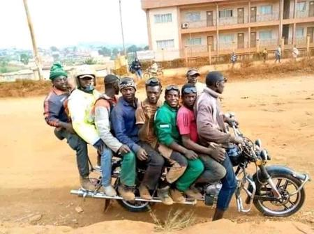 Would you enter this new 8-seater bike spotted in the streets of Nigeria? See what people are saying