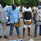 NTSA Arrests Nairobi Motorists With Fake Vehicle Registration Numbers