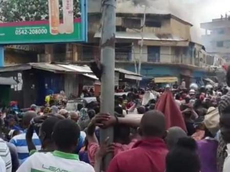 Breaking News: Kumasi Aboabo Market on fire