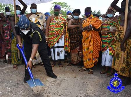 IGP joins chiefs in his hometown to cut sod for the construction of an ultramodern Police Station