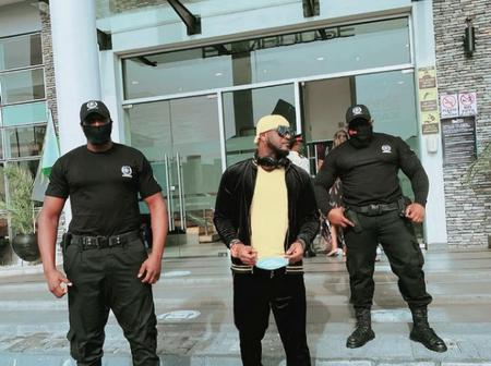 Mr P Shows Off 2 Body Guards, Says