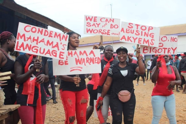 """f915a818dfca8460067816a95baa213c?quality=uhq&resize=720 - """"We Can Say & Do Worse oo"""" - Demonstration Against Mahama for His 'Akyem Sakawa Boys' Comment Is Ongoing (Photos)"""