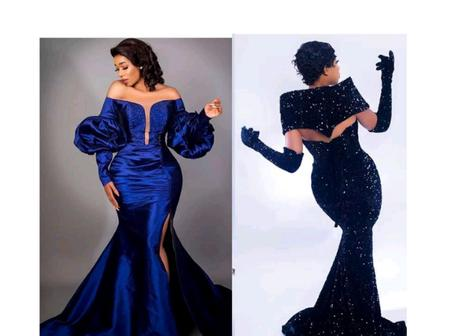 Ladies Rock This Holiday Season With This Eye-catching Satin, Lace And Ankara Gown Styles