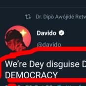 Lekki Massacre: See What Davido Tweeted That Made People Call Him A Clout Chaser On Twitter
