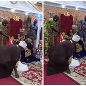 Watch The Moment The Chief Imam of Offa Land Prostrated To Oluwo of Iwo and He Asked Him to Stand Up