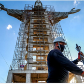 Stunning Photos of the third tallest statue of Jesus Christ under construction in Brazil