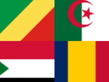 Top 5 largest countries in Africa
