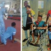 Check Out What A Pastor Did For The Crippled Man Who Danced Joyfully During His Baby's Dedication