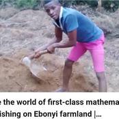 Meet The First Class Mathematics Graduate Working On Ebonyi Farmland