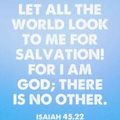 Check out my own analysis about this Bible passage (Isaiah 45:22)