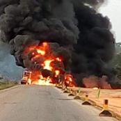 Axe Yamoussoukro-Tiebissou : Un camion citerne en feu
