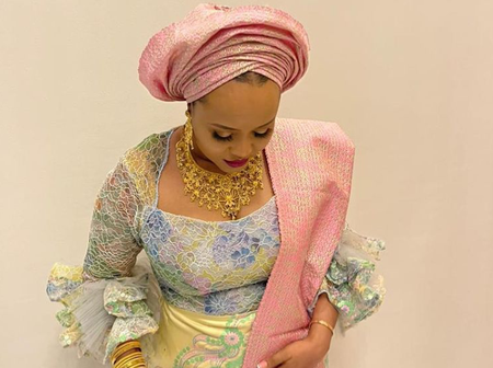Status symbol: Oba Elegushi's second wife steps out with N3m clutch bag