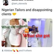 See what a Nigerian tailor made for a lady that got people talking on Twitter
