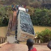 Panic in Kisumu County After Bridge Collapses With A Trailer Ferrying Materials