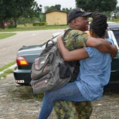 Emotional Photos Of Sodiers Reuniting With Their Family Members In Nigeria And Around The World