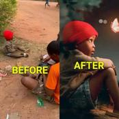 See The 'Before And After' Pictures Of This Boy That Has Got People Reacting (Photos)