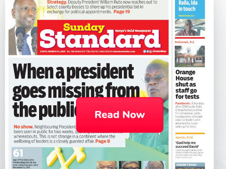 Catholic Church Broke, Orange House Shut, Raila Out Of Danger In Newspapers Today.