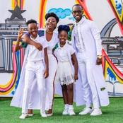 Beautiful pictures of Okyeame Kwame, his beautiful wife and adorable children causes stir