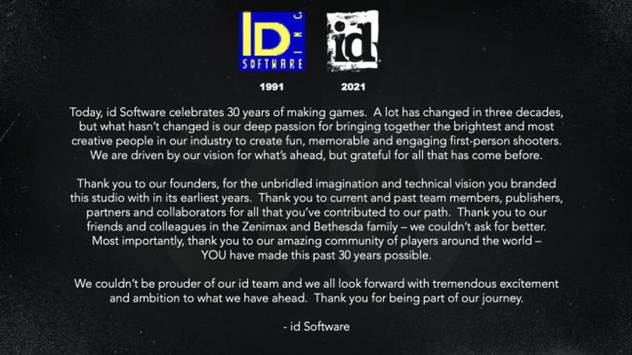 BioWare et id Software fêtent leur anniversaire