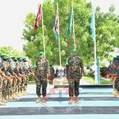 Top Kenyan Military Commander Leaves Somalia With a KDF Troop After Service