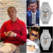 Money Is Good: Check Out The Cost Of This Cristiano Ronaldo's Wrist Watch In Nigerian Currency.