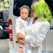 Check Out These Lovely Photos of Regina Daniels Spending Time with her son