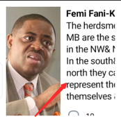 The Herdsmen Ravaging South, West And East Are The Same Ones Butchering People In The North- FFK