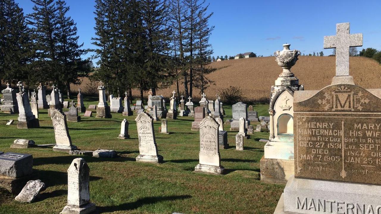 Old gravestones of smallpox victims restored