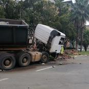 Truck Crashes After Driver's Failed To Obey Traffic Light
