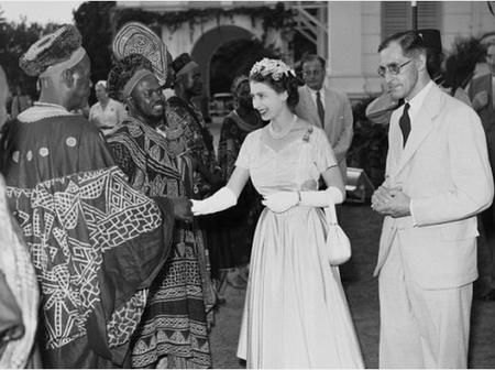 Check Out Photos of Queen Elizabeth II's First Visit to Nigeria in 1956.