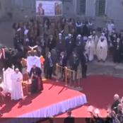 Pope Francis Prays Among Churches Ruined By ISIS In Iraq.