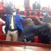 Chaotic Scenes MCAs Exchange Blows Again Inside Nyamira Chambers, Several Arrested - Video