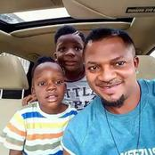 Check Out Cute Pictures of Walter Anga And His Children