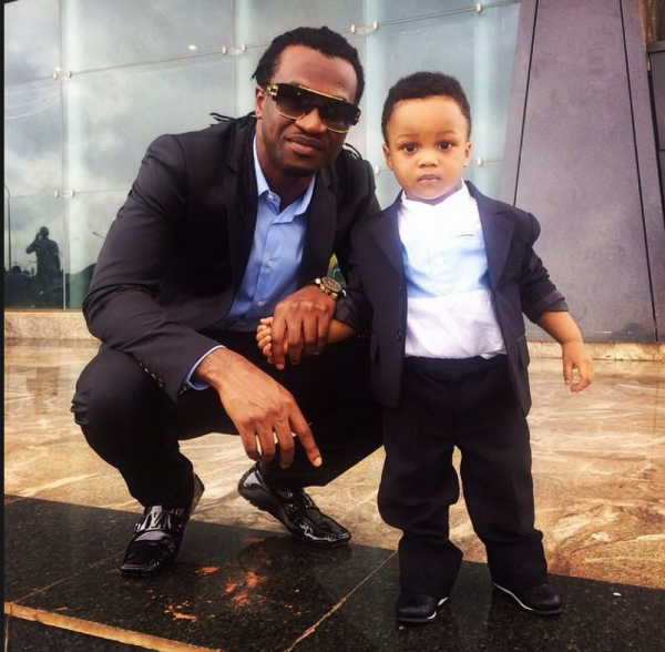 Nigerian celebrities with their son