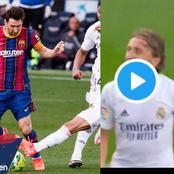 (Video) Luka Modric Scores Wonder Goal As Real Madrid Beat Barcelona 3-1 At Camp Nou