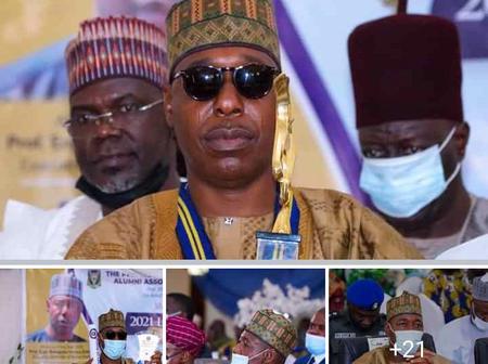 Photos: Prof. Zulum Receives Two Awards From University Of Ibadan.