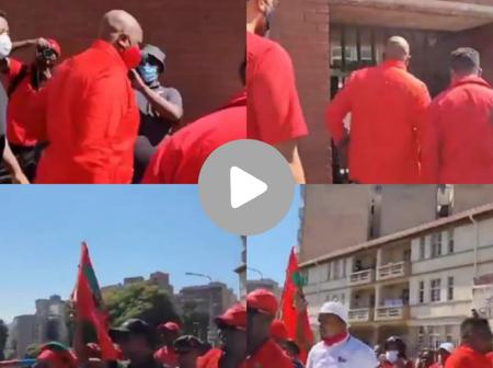 Watch| Floyd Shivambu Has Arrived At Hillbrow Police Station To Open A Case Against Pravin Gordhan