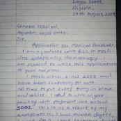 Checkout What a Graduate Wrote in an Application Letter